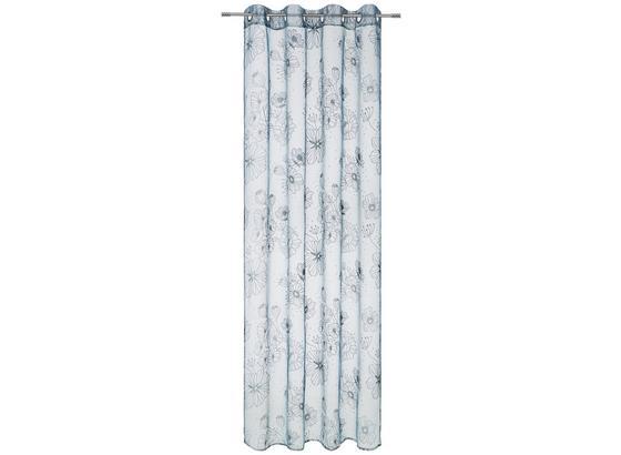 Záves S Krúžkami Greta - modrá/biela, Romantický / Vidiecky, textil (135/245cm) - Mömax modern living