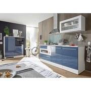 Küchenleerblock Welcome Jazz 200cm Weiß/blau - Blau/Weiß, MODERN, Holzwerkstoff (200+120cm)