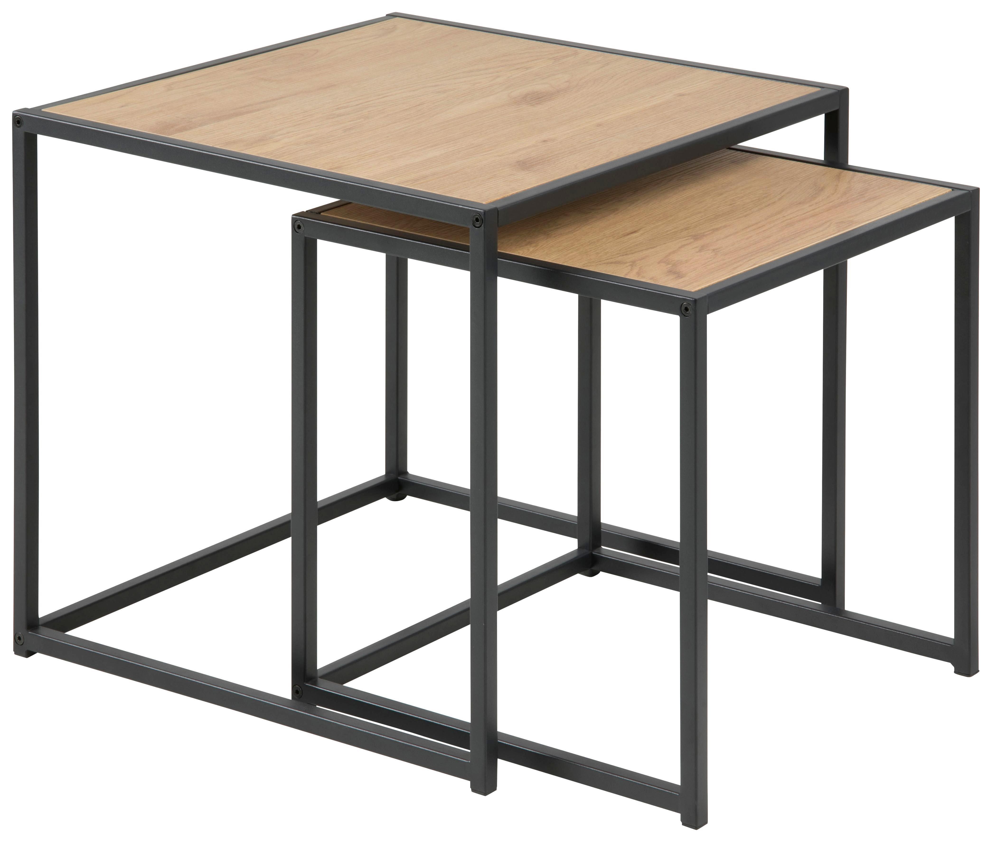 Satztisch aus Stahl und Holzdekor online kaufen