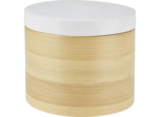 Dóza Naturelle -ext- - prírodné farby/biela, drevo (14/12cm) - Mömax modern living