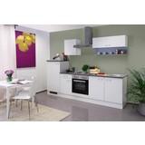Küchenblock Lucca 270 cm Weiß - Weiß, KONVENTIONELL, Holzwerkstoff (270/60cm)