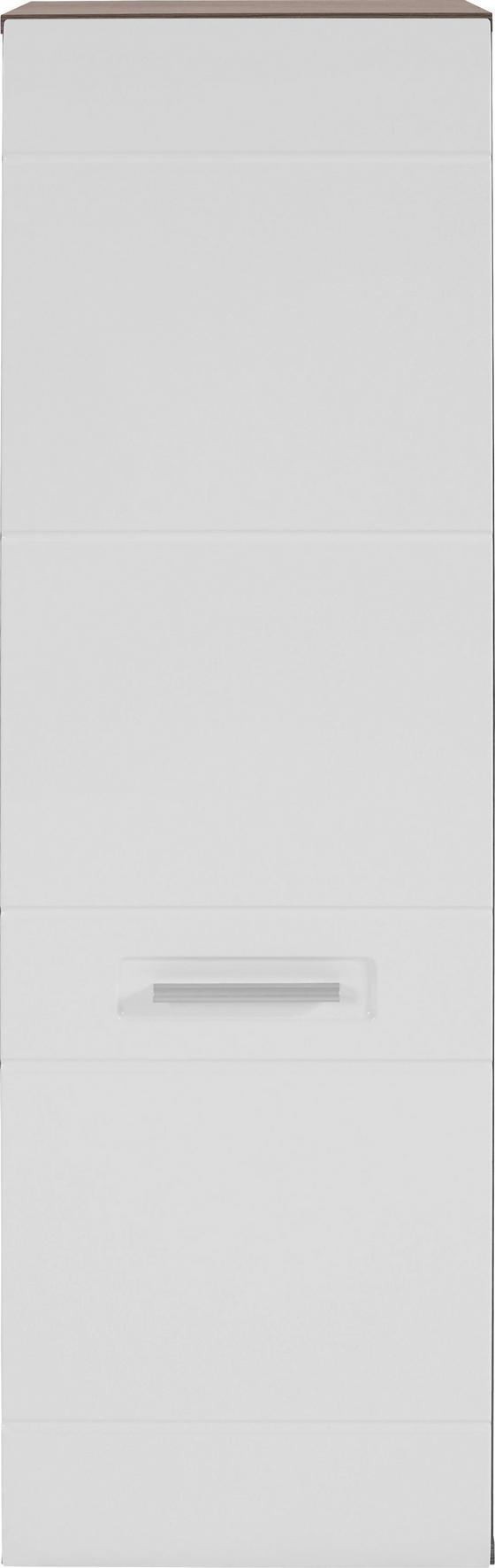 Faliszekrény Avensis - sötétbarna/fehér, modern (40/123/37cm) - LUCA BESSONI