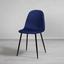 Židle Lio - modrá/černá, Moderní, kov/dřevo (43/86/55cm) - Modern Living