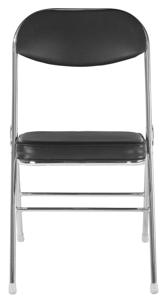 Skládací Židle Paula - černá/barvy chromu, Moderní, kov/textil (46/79/53cm) - MÖBELIX