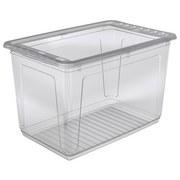 Box mit Deckel Bea 52 Liter - Transparent, KONVENTIONELL, Kunststoff (59/39/35cm) - Homezone