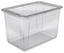 Box mit Deckel Bea,52 Liter - Transparent, KONVENTIONELL, Kunststoff (59/39/35cm) - Homezone