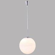 Hängeluchte Barna H: 180 cm 1-Flammig mit Opalglas - Weiß, MODERN, Glas/Metall (35/180cm)
