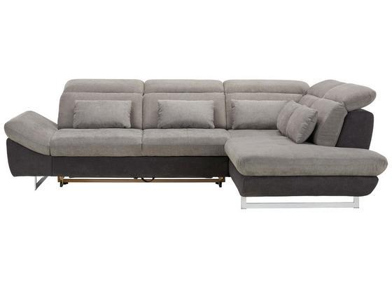 Sedací Souprava Jersey - šedá/černá, Moderní, textil (297/100/228cm) - Premium Living