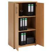 Aktenschrank Serie 1200 2 Türen Buche Dekor - Buchefarben, Basics, Holzwerkstoff (65,1/110,9/34,5cm) - MID.YOU