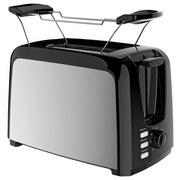 Toaster Dominik - Edelstahlfarben/Schwarz, Basics, Kunststoff/Metall (26,5/15,6/19,9cm) - Bono