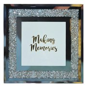 Bilderrahmen Memories - Silberfarben, MODERN, Glas (18/18/1cm) - Luca Bessoni