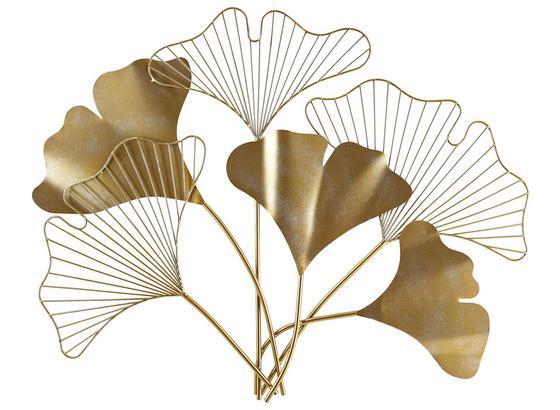 Dekorace Nástěnná Flora - barvy zlata, kov (83/76/3cm) - Mömax modern living