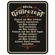 Dekoschild Blechschild Grillrezept - Multicolor, Basics, Metall (17/22cm)