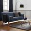 Pohovka Patrick - modrá, Moderní, dřevo/textil (200/84/84cm) - Modern Living