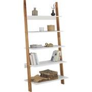 Regál Durham - bílá/přírodní barvy, Moderní, dřevo/kompozitní dřevo (85/170/40cm) - Mömax modern living