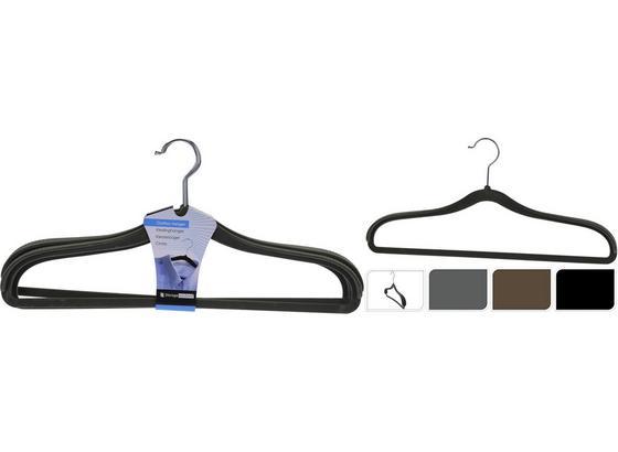 Kleiderbügel Kajaan - Schwarz/Braun, Basics, Kunststoff (21/44cm)