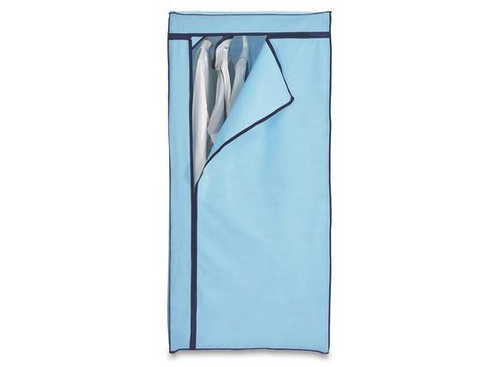 Skříň Fancy - modrá/černá, Moderní, kov/textilie (75/160/50cm)