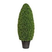 Kunstpflanze Buchsbaum H: 125 cm Grün - Schwarz/Grün, Trend, Kunststoff (125cm) - MID.YOU