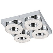 LED-Wandleuchte Fradelo - Chromfarben/Klar, MODERN, Kunststoff/Metall (28/28/6cm)