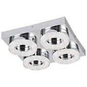 LED-Wandleuchte Fradelo - Klar/Chromfarben, MODERN, Kunststoff/Metall (28/28/6cm)