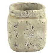 Pflanztopf H:ca.15,5cm - Hellbraun, MODERN, Keramik (13,8/15,5/11cm)