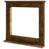 Spiegel Marbella B: 70 cm Mangoholz - Naturfarben, Basics, Glas/Holz (70/69/9cm)