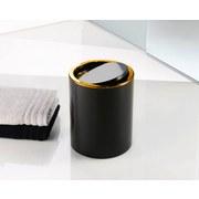 Kosmetikeimer Golden Clap - Goldfarben/Schwarz, Basics, Kunststoff (19/24,5cm) - Kleine Wolke