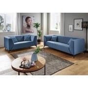 Dreisitzer-Sofa Tubione B: 200 cm Blau - Blau/Schwarz, MODERN, Textil (200/71/87cm) - Livetastic