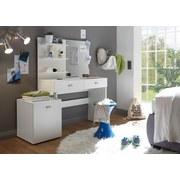 Schminktisch Shadow B: 132 cm Weiß - Weiß, Design, Glas/Holzwerkstoff (132/145/43cm) - MID.YOU