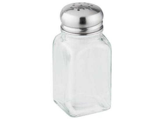 Salz- oder Pfefferstreuer per Stück - Klar, KONVENTIONELL, Glas/Metall (0,075l) - Fackelmann