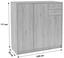 Kommode 4-You YUK09 109cm San Remo Eiche/ Holzdekor - Eichefarben, MODERN, Holzwerkstoff (109,1/111,4/34,6cm)