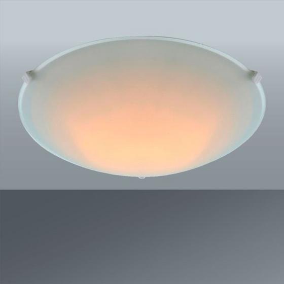 Svítidlo Stropní Cenový Trhák - bílá, Konvenční, kov/sklo (25/6,5cm) - Based
