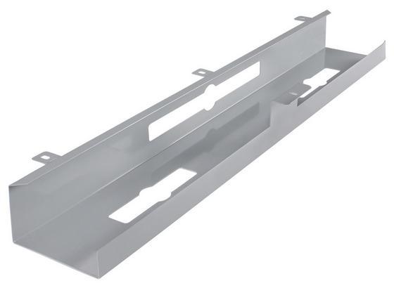 Kabelkanal B: ca. 80 cm Silberfarben - Silberfarben, Basics, Metall (80/7/13cm) - Livetastic