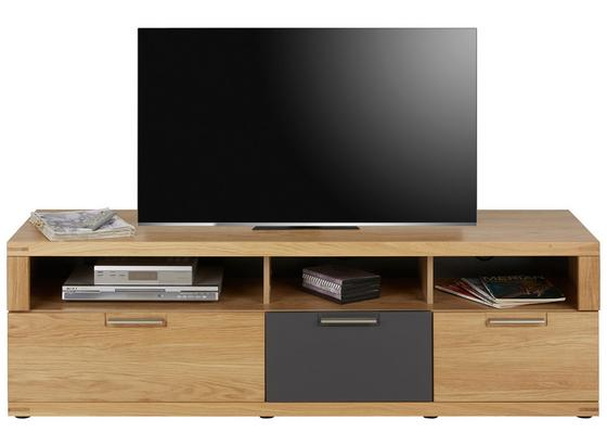 Tv Díl Bianco - barvy dubu/barvy grafitu, Konvenční, dřevo/kompozitní dřevo (160/52/48cm) - Zandiara