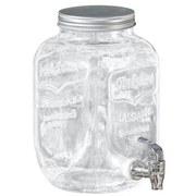 Getränkespender mit Zapfhahn - MODERN, Glas (26/15cm)