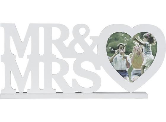Rám Na Obrazy Mr & Mrs - bílá, Romantický / Rustikální, kompozitní dřevo/umělá hmota (45/20/4cm) - Mömax modern living