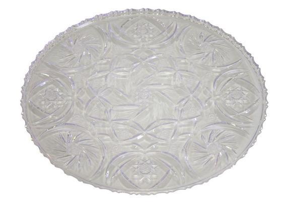Servierplatte Eva - Transparent, KONVENTIONELL, Kunststoff (24cm)