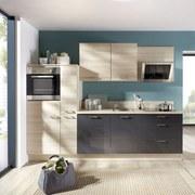 Küchenblock Pn100/270 280 cm Akazie/graphit - Graphitfarben/Akaziefarben, MODERN, Holzwerkstoff (280cm) - Pino