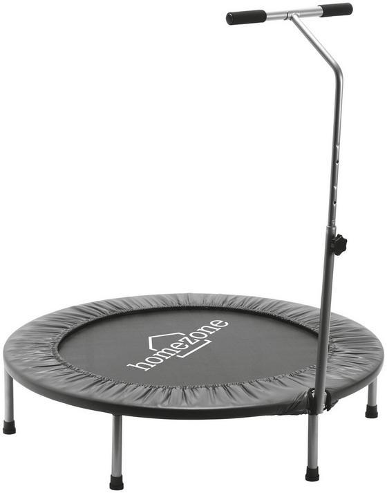 Trampolin Power Gym - Schwarz/Grau, Kunststoff/Metall (101,6/22cm) - Homezone