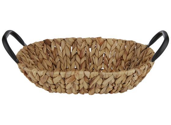 Koš Marly - hnědá, kov/přírodní materiály (35/25/8cm)
