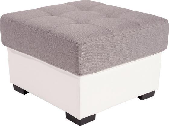 Hocker Burner - Hellgrau/Weiß, MODERN, Textil (65/46/65cm)