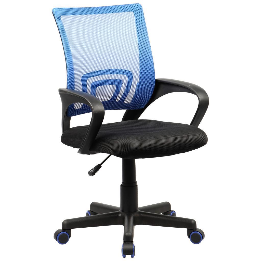 Otočná Židle Tinos Černo-Modrá