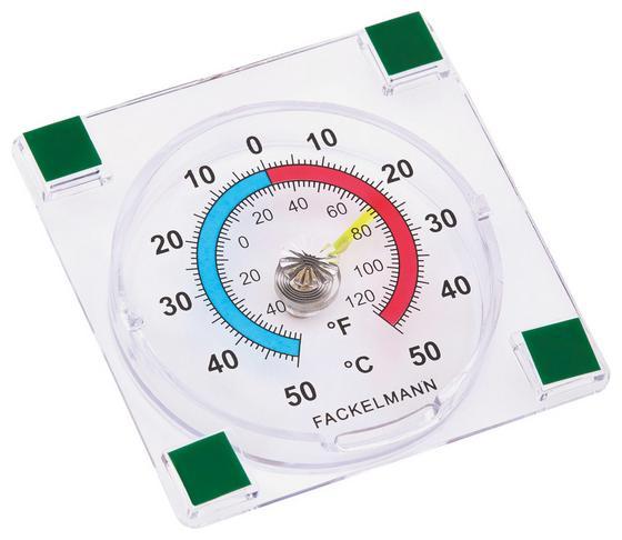 Hőmérő Öntapadós - áttetsző, konvencionális, műanyag
