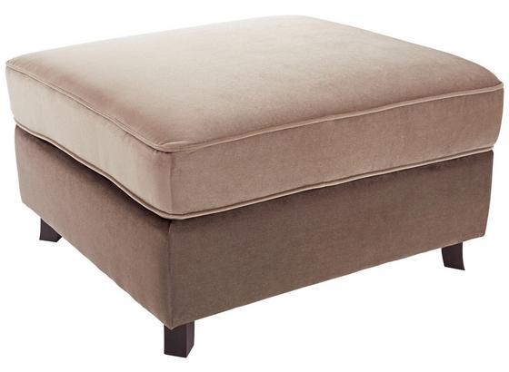 Taburet Elephant - tmavě hnědá/světle hnědá, Romantický / Rustikální, dřevo/textil (100/48/80cm) - James Wood