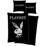 Bettwäsche Playboy B/L: ca. 70/90,140/200cm - Schwarz, LIFESTYLE, Textil (70/90cm) - Playboy