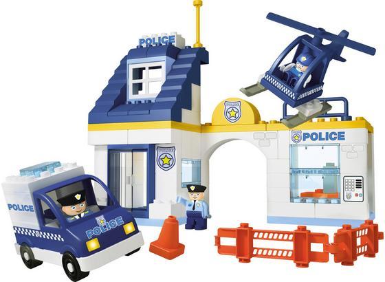 Bausteine Unico Plus Polizeistation - Blau/Weiß, Kunststoff - Unico Plus