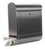 Rottner Briefkasten Mailbox Rondello - Edelstahlfarben, Metall (38,5/43,5/14,0cm)