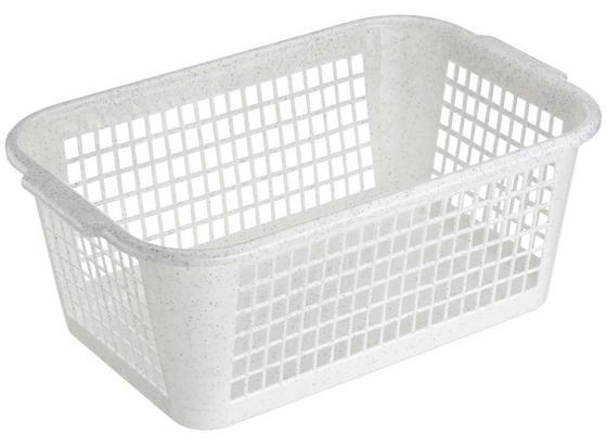Aufbewahrungskörbchen Kunststoff - Blau/Weiß, KONVENTIONELL, Kunststoff (35/24/14,5cm)