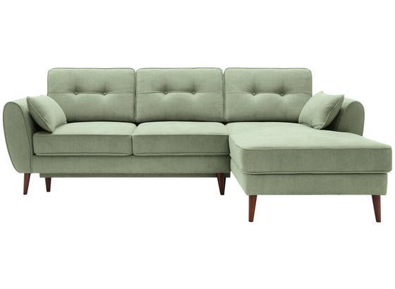 Sedací Souprava Candy L - zelená, Moderní, dřevo/textil (254/165cm)