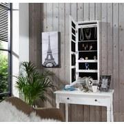 Schmuckschrank ca. 35/96/9cm - Weiß, MODERN, Glas/Holzwerkstoff (35/96/9cm) - James Wood